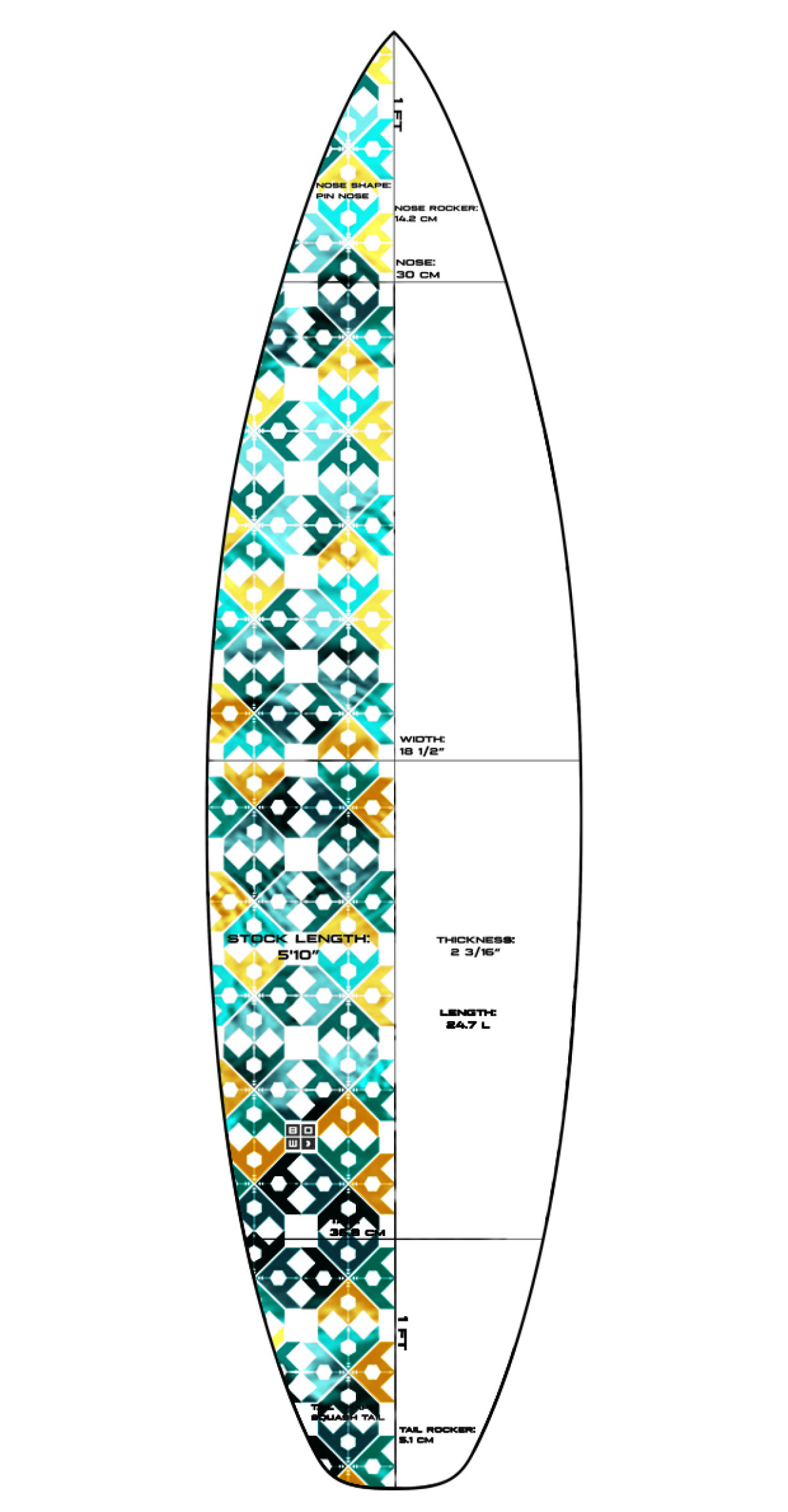 Amazing Surfboard Design Template Embellishment - Professional ...